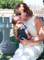 Debi Holding Jacob - Safely Surrendered Baby 2003